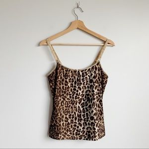 D&G Dolce and Gabbana Leopard Print Tank Top Small